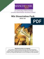 MSc Dissertation Pack 1516