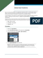 Adding Default Data Transforms