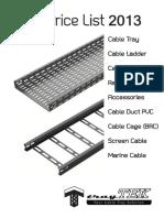 Price List 2013 tray