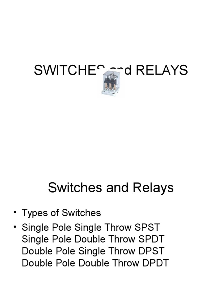 Switches And Relay Doublepolesinglethrow Switch D Doublepoledoublethrow