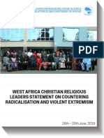 West Africa Christian Religious Leaders Statement - English