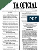 Gaceta Oficial Número 40.945 de la República de Venezuela, 15 de julio de 2016