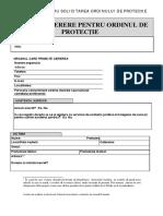 Model Ordin de Protectie