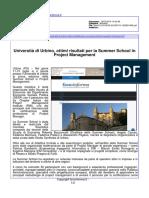 Università di Urbino, ottimi risultati per la summer school in Project Management - Fano Informa.it, 19 luglio 2016