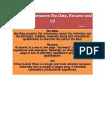 Resume Cv Biodata