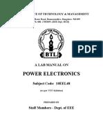 BTL 4th Sem Power Electronics Lab Manual