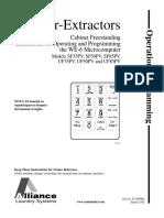 Unimac, Washer, WE-6 Microcomputer Programming