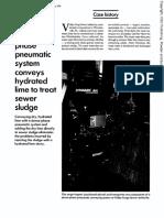 Pbe_199105-Dense Phase Pneumatc System Conveys Hydrated Lime to Treat Sewer Sludge