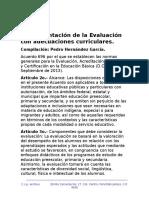 Fundamentos de La Evalaucion Con Adecuaciones Curriculares