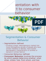 segmentation with repect to consumer behaviour