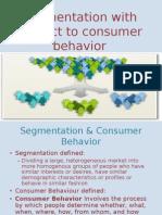segmentation with repect to consumer behaviour