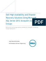 SQL Server 2012 AlwaysOn_AVG Implementation on Dell Servers