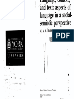 Language, context and text