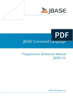 JBASE Command Language Programmers Reference Manual