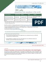 ERC Newsletter July 2016 - Calendar of ERC calls
