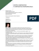 Diferencias Entre Compuestos Organicos y Compuestos Inorganicos