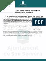 Nota Premsa Son Servera AENOR_12.07