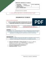 Informe de Servicio Tecnico en Taller 13-06-2016