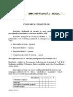 Tema 2 Evaluarea cursantilor.doc