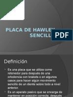 Placa de Hawley Sencilla