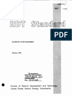 (RDT F3-2T) Calibration System Requirements (1969)