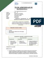 Sesion de Aprendizaje de Matematica 6º Grado Ed. Primaria Avalos-Ccesa007