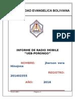 Informe de Radio Mobile