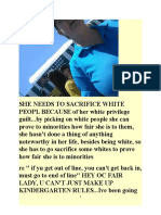 re OC FAIR WHITE PRIVILEGE WORKER  SACRIFICING WHITES & BLACK LIVES MATTER