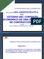 Estudio Del Contexto Económico de Una Empresa de Construcción