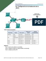 5.2.3.7 Configuracion La Direccionde Puertos de Traslacion PAT Cisco