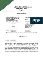 Sec of Justice vs Koruga