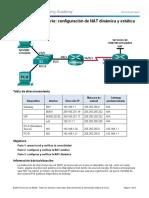 5.2.2.6 Configuracion Dinamica y Estatica NAT