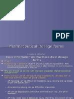 Lecture - 1 Dosage Form