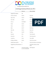 3 - Common InDesign Keyboard Shortcuts