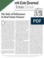 Defeasance in RE Finance