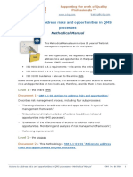 ISO 9001:2015 Methodical Manual. Actions to address risks and opportunities in QMS processes