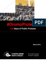 EHRP OromoProtests 100 Days of Public Protests