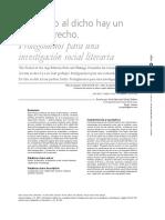 Del Hecho Al Dicho Hay Un Poético Trecho. Prolegómenos Para Una Investigación Social Literaria. Jairo Hernando Gómez Esteban