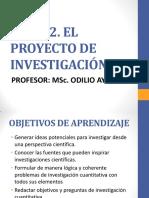 Tema 2. El Proyecto de Investigación