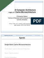 Computer Architecture-Cache Microarchitecture