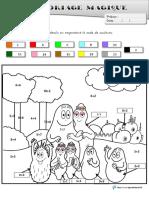 Coloriages Magiques Barbapapa Cp