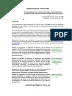 DECRETO LEGISLATIVO N° 838 y DECRETO SUPREMO Nº 018-96-AG