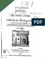 de Bingen Hildegarde SCIVIAS Ou Les Trois Livres Des Visions Et Revelations Livre Premier