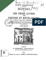 de Bingen Hildegarde SCIVIAS Ou Les Trois Livres Des Visions Et Revelations Livre Second