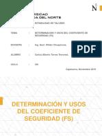 Presentacion - Determinacion y Uso Del Factor de Seguridad