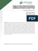 Artigo - XI CNEG - Parem Os Testes_Percepções Sobre o Comportamento e Motivação de Consumo de Consumidores de Produtos Cruelty Free