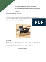 Selección y Especificación de Maquinaria 1