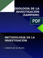 Metodologia de La Investigación resumen de Sampieri
