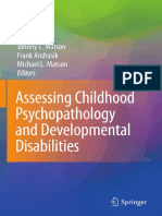 Assessing Childhood Psychopathology