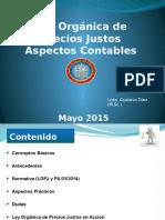 Aspectos Contables LOPJ Mayo 2015